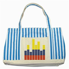 Volumbia Olume Circle Yellow Blue Red Striped Blue Tote Bag