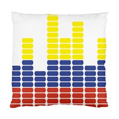 Volumbia Olume Circle Yellow Blue Red Standard Cushion Case (One Side)
