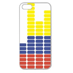 Volumbia Olume Circle Yellow Blue Red Apple Seamless iPhone 5 Case (Clear)