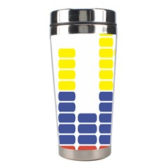 Volumbia Olume Circle Yellow Blue Red Stainless Steel Travel Tumblers