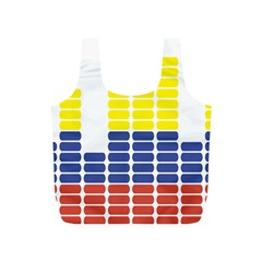 Volumbia Olume Circle Yellow Blue Red Full Print Recycle Bags (S)