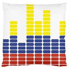 Volumbia Olume Circle Yellow Blue Red Large Flano Cushion Case (two Sides)