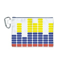 Volumbia Olume Circle Yellow Blue Red Canvas Cosmetic Bag (M)