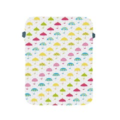 Umbrella Tellow Blue Red Pink Green Color Rain Kid Apple iPad 2/3/4 Protective Soft Cases