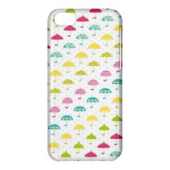 Umbrella Tellow Blue Red Pink Green Color Rain Kid Apple iPhone 5C Hardshell Case