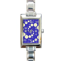 Vortical Universe Fractal Blue Rectangle Italian Charm Watch