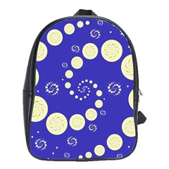Vortical Universe Fractal Blue School Bags(Large)