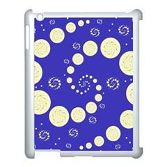 Vortical Universe Fractal Blue Apple iPad 3/4 Case (White)
