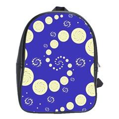 Vortical Universe Fractal Blue School Bags (XL)