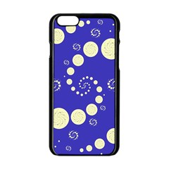 Vortical Universe Fractal Blue Apple Iphone 6/6s Black Enamel Case