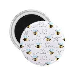 Wasp Bee Fly Yellow Black Blue Hanny Love 2 25  Magnets