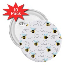 Wasp Bee Fly Yellow Black Blue Hanny Love 2.25  Buttons (10 pack)