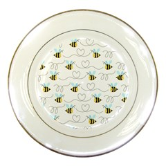 Wasp Bee Fly Yellow Black Blue Hanny Love Porcelain Plates