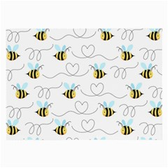 Wasp Bee Fly Yellow Black Blue Hanny Love Large Glasses Cloth