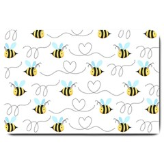 Wasp Bee Fly Yellow Black Blue Hanny Love Large Doormat