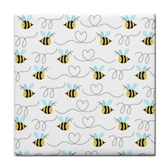Wasp Bee Fly Yellow Black Blue Hanny Love Face Towel