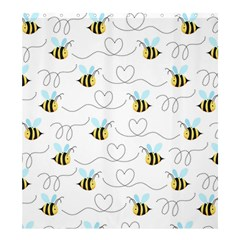 Wasp Bee Fly Yellow Black Blue Hanny Love Shower Curtain 66  x 72  (Large)