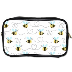 Wasp Bee Fly Yellow Black Blue Hanny Love Toiletries Bags 2-Side