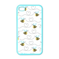 Wasp Bee Fly Yellow Black Blue Hanny Love Apple iPhone 4 Case (Color)