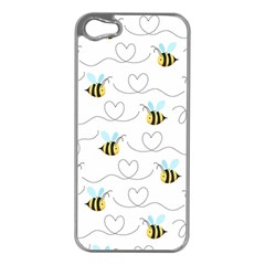 Wasp Bee Fly Yellow Black Blue Hanny Love Apple iPhone 5 Case (Silver)