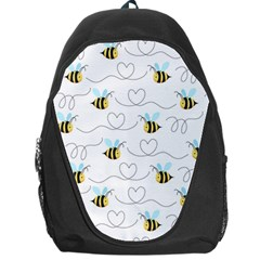 Wasp Bee Fly Yellow Black Blue Hanny Love Backpack Bag