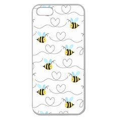 Wasp Bee Fly Yellow Black Blue Hanny Love Apple Seamless iPhone 5 Case (Clear)