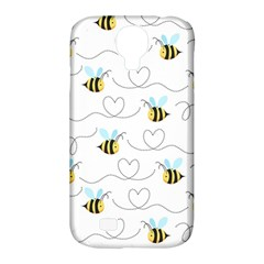 Wasp Bee Fly Yellow Black Blue Hanny Love Samsung Galaxy S4 Classic Hardshell Case (PC+Silicone)