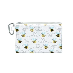 Wasp Bee Fly Yellow Black Blue Hanny Love Canvas Cosmetic Bag (S)