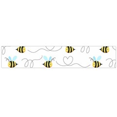 Wasp Bee Fly Yellow Black Blue Hanny Love Flano Scarf (Large)