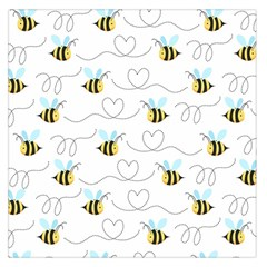 Wasp Bee Fly Yellow Black Blue Hanny Love Large Satin Scarf (Square)