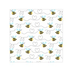 Wasp Bee Fly Yellow Black Blue Hanny Love Small Satin Scarf (square)
