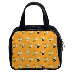 Wasp Bee Hanny Yellow Fly Animals Classic Handbags (2 Sides)