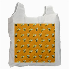 Wasp Bee Hanny Yellow Fly Animals Recycle Bag (One Side)