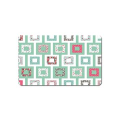 Foto Frame Cats Quilt Pattern View Collection Fish Animals Magnet (Name Card)