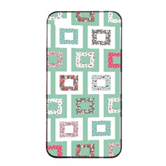Foto Frame Cats Quilt Pattern View Collection Fish Animals Apple iPhone 4/4s Seamless Case (Black)