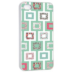 Foto Frame Cats Quilt Pattern View Collection Fish Animals Apple iPhone 4/4s Seamless Case (White)