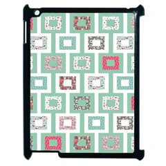 Foto Frame Cats Quilt Pattern View Collection Fish Animals Apple iPad 2 Case (Black)