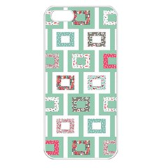 Foto Frame Cats Quilt Pattern View Collection Fish Animals Apple iPhone 5 Seamless Case (White)