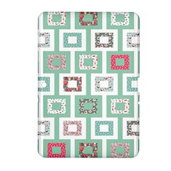Foto Frame Cats Quilt Pattern View Collection Fish Animals Samsung Galaxy Tab 2 (10.1 ) P5100 Hardshell Case