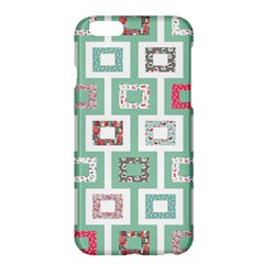 Foto Frame Cats Quilt Pattern View Collection Fish Animals Apple iPhone 6 Plus/6S Plus Hardshell Case