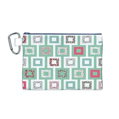 Foto Frame Cats Quilt Pattern View Collection Fish Animals Canvas Cosmetic Bag (m)