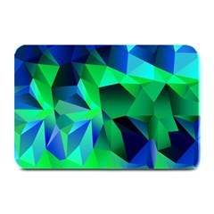 Galaxy Chevron Wave Woven Fabric Color Blu Green Triangle Plate Mats