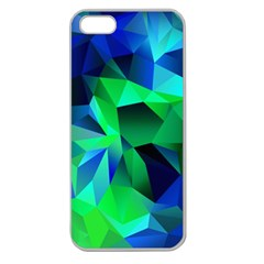Galaxy Chevron Wave Woven Fabric Color Blu Green Triangle Apple Seamless iPhone 5 Case (Clear)