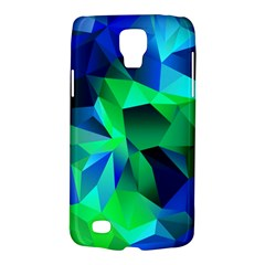 Galaxy Chevron Wave Woven Fabric Color Blu Green Triangle Galaxy S4 Active