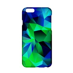 Galaxy Chevron Wave Woven Fabric Color Blu Green Triangle Apple Iphone 6/6s Hardshell Case