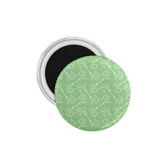 Formula Leaf Floral Green 1.75  Magnets