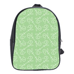 Formula Leaf Floral Green School Bags(Large)