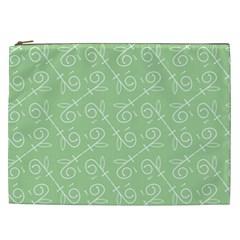 Formula Leaf Floral Green Cosmetic Bag (XXL)