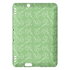 Formula Leaf Floral Green Kindle Fire HDX Hardshell Case