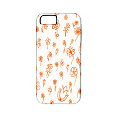 Flower Floral Tulip Orange Apple iPhone 5 Classic Hardshell Case (PC+Silicone)